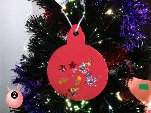 Home made Christmas bauble for the tree