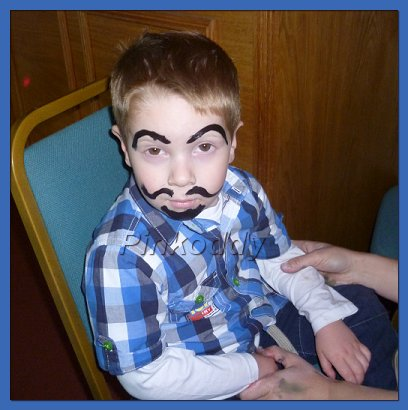 Facial hair with face paint