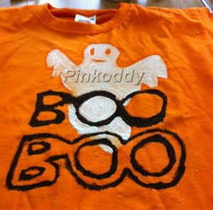Home made Halloween T-shirt @pinkoddy