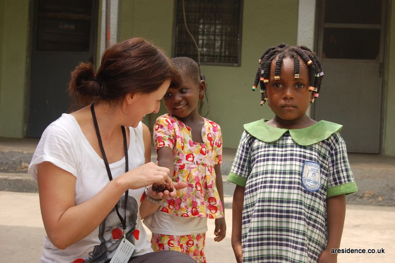 Comic Relief Davina McCall in Ghana