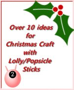 Christmas Craft from Recycled Lollipop Sticks