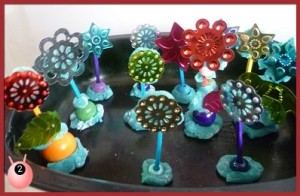 Craft flowers for small world play