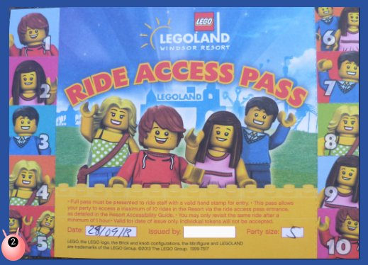Legoland Windsor Disability Access to rides