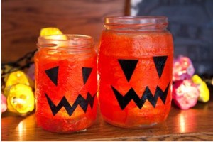 Halloween Lanterns from Jam Jars RedTedArt Guest post on Pinkoddy
