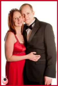 Happy couple at christmas photo shoot ideas