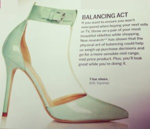 Psychologies Magazine Review why wearing high shoes help with shopping