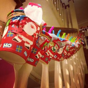 homemade advent calendar cups