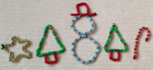 christmas bead ornaments HereComeTheGirls