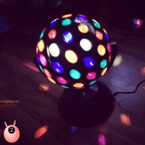 relax goals disco ball