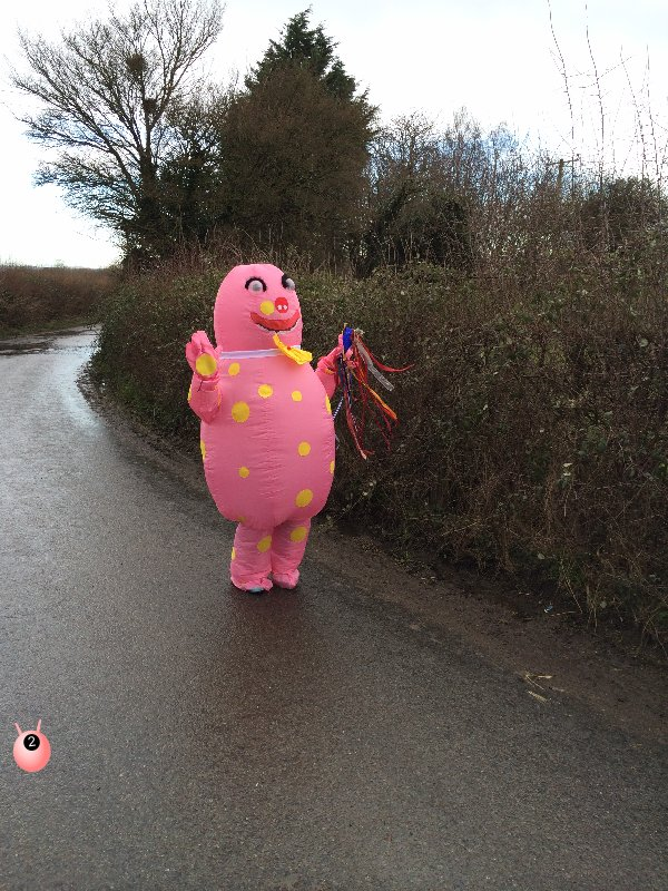 Mr Blobby does Sport Relief