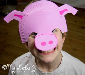 pig paper plate mask