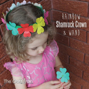 shamrock crown and wand