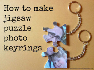 Jigsaw puzzle photo keyring
