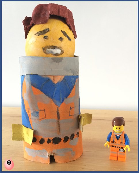 Lego Egg Decorating – Eggett (Emmett) and Superman #MotivationalMonday