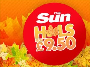 £9.50 SUN HOLIDAYS CODE WORDS AUTUMN 2014