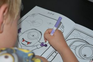 minions colouring in