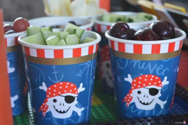 LEGO Pirate party snack pots or drinks cups