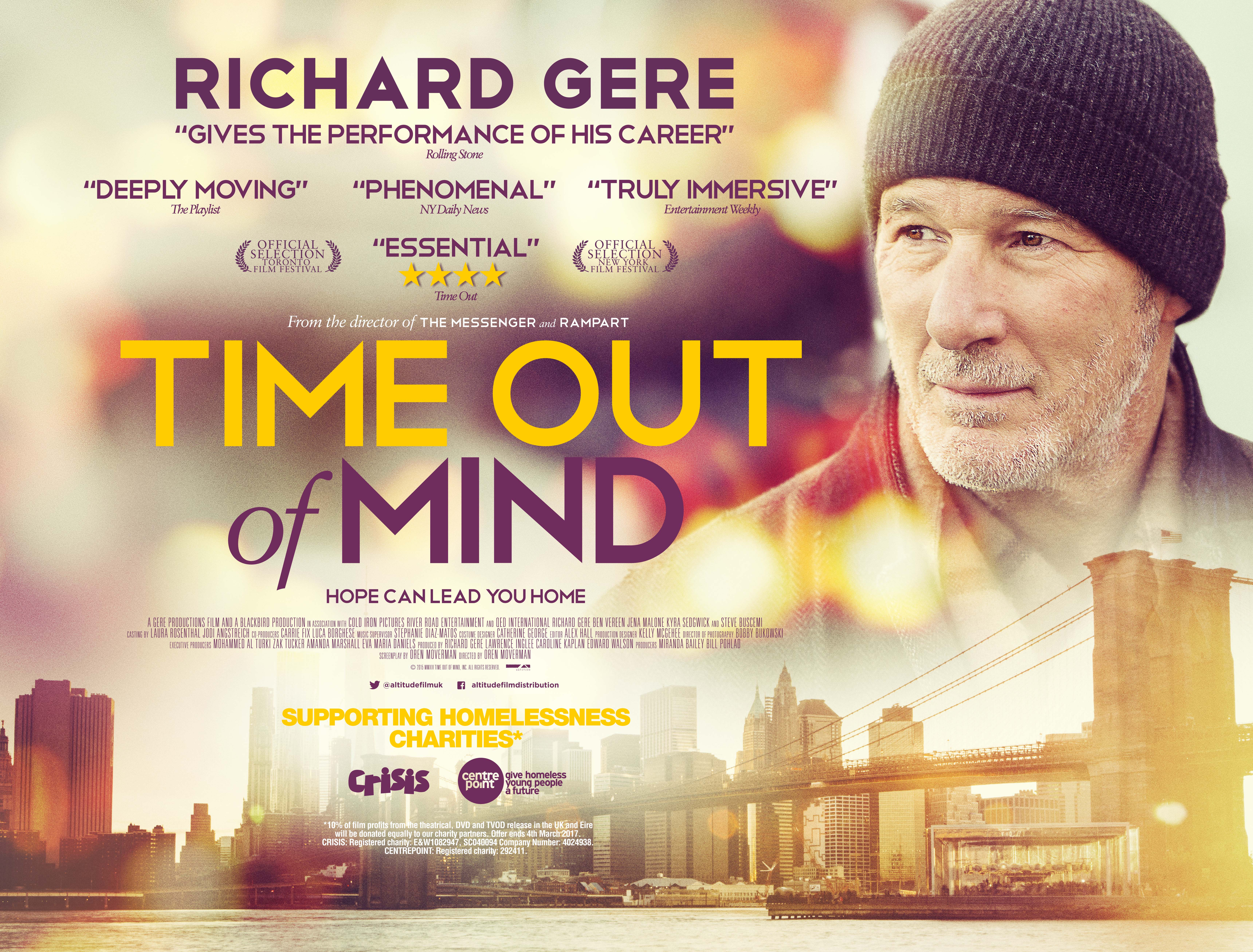 TIME OUT OF MIND Richard Gere