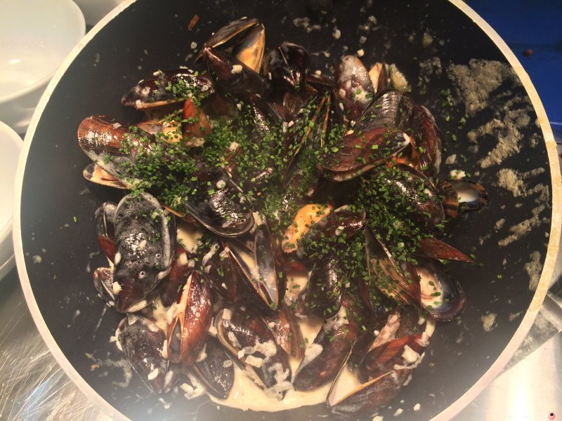 Grilled Mussels at The Fire Station Cheltenham