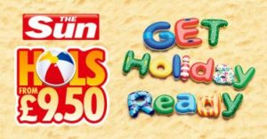 Sun £9.50 Holidays April 2017 with required Code Words