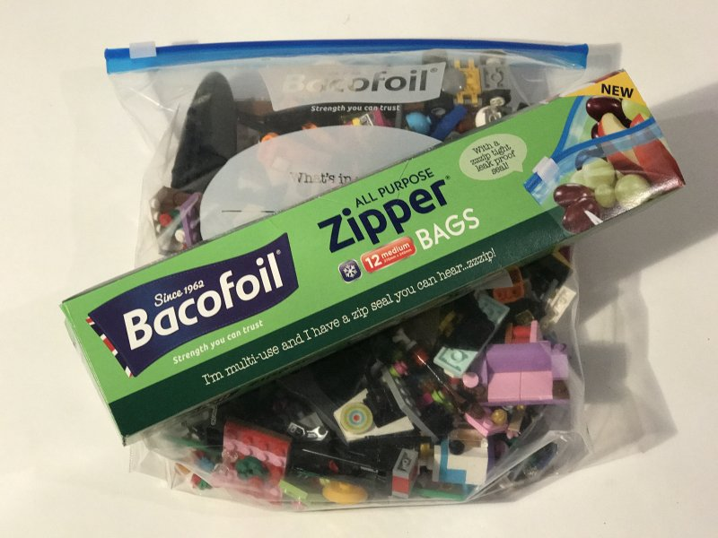 lego storage bacofoil multipurpose zip bag