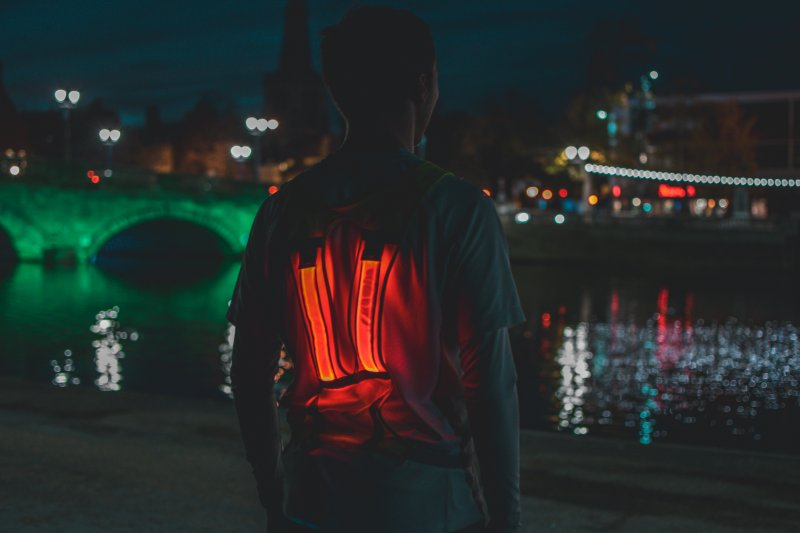 led reflective vest in the dark