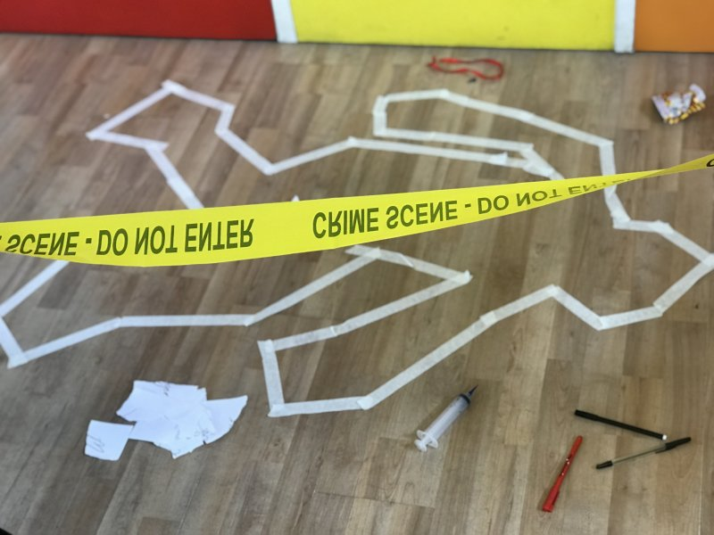 crime scene home education session