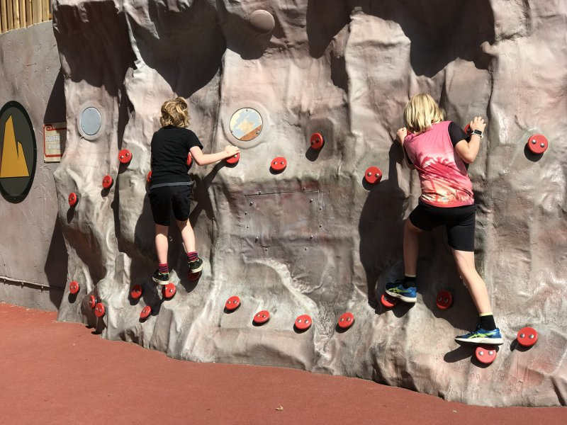 Cole's rock wall at LEGOLAND Windsor