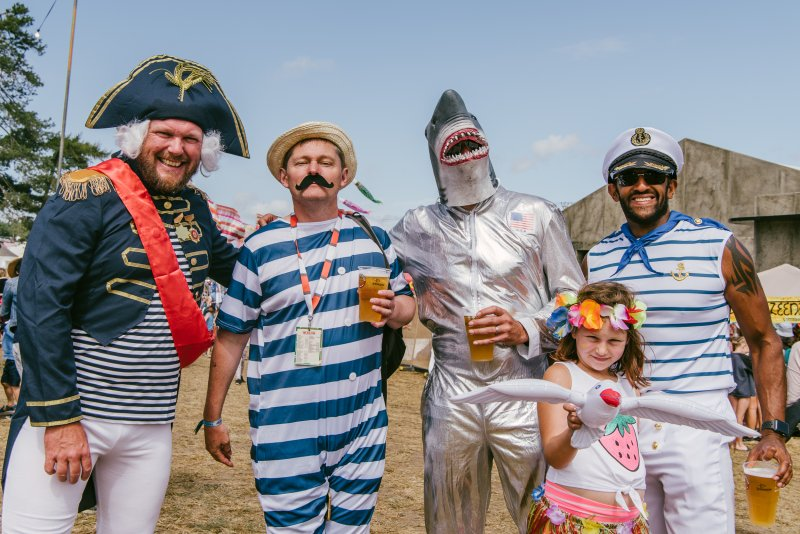 nautical dress up theme at festival
