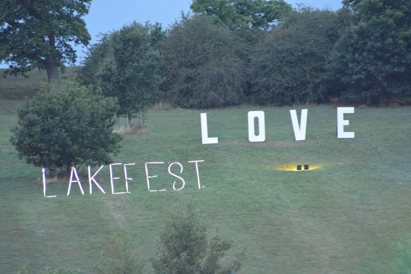 Lakefest sign 2018
