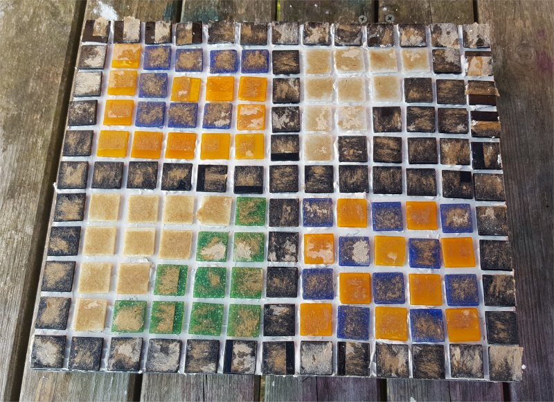 Mosaics Craft removing backing paper