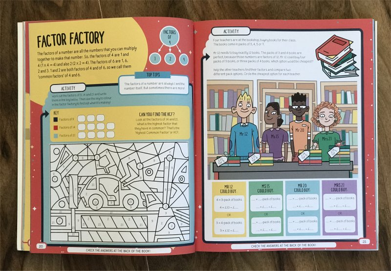 book amazing maths factors