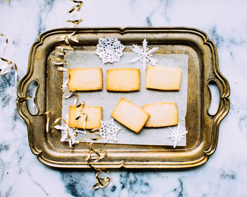 biscuits on a festive tray
