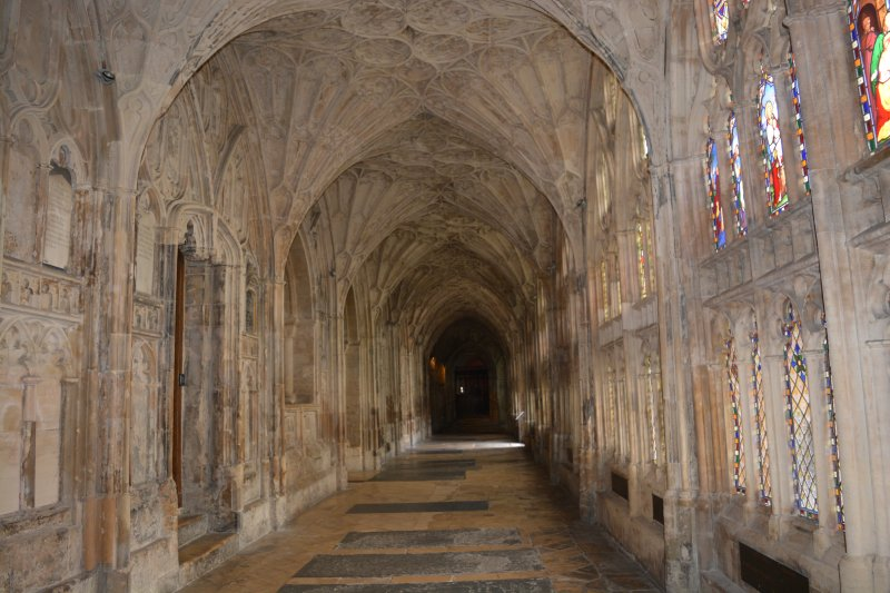 Cloisters at Gloucester Cathedral where it was turned into Hogwarts for the filming of Harry Potter