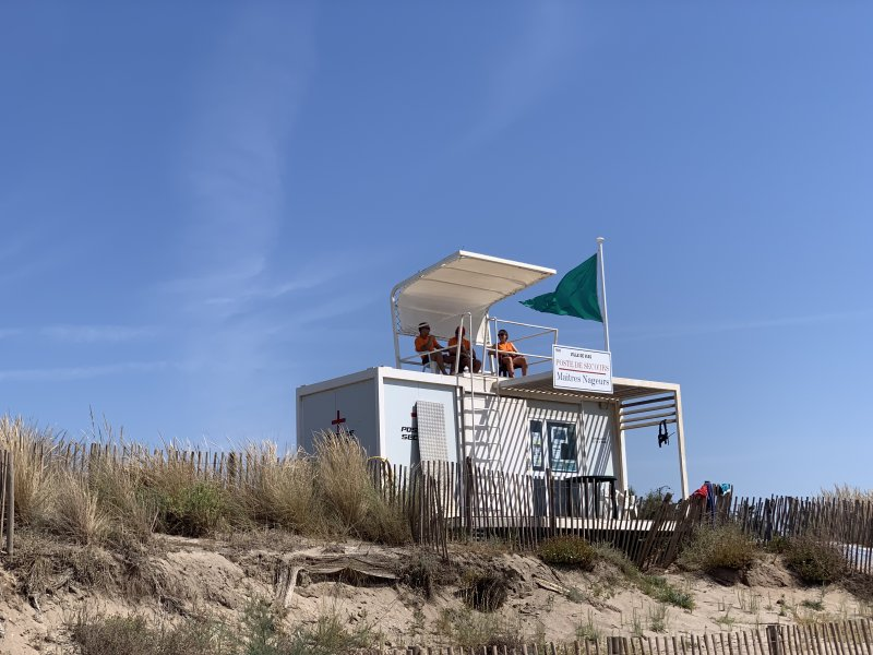 life-guarded beach at Le Mediterranee Plage Camping Village