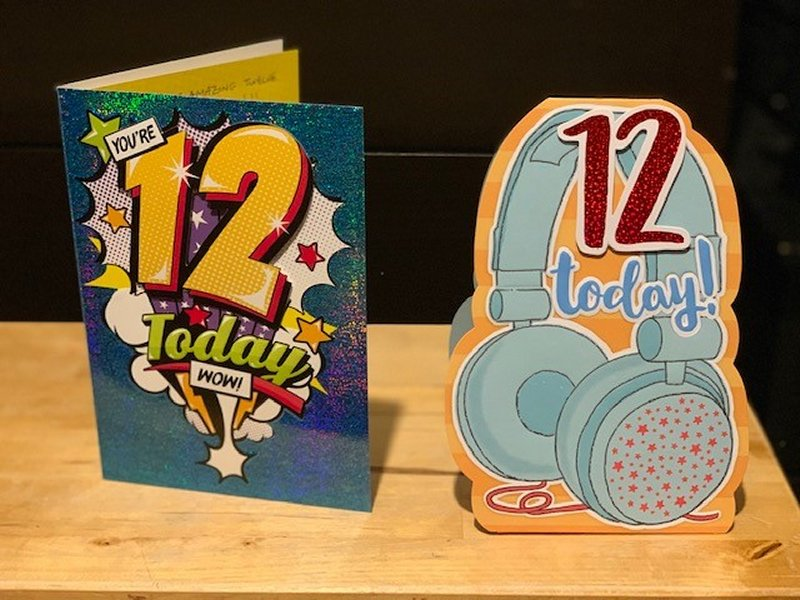 12th birthday cards